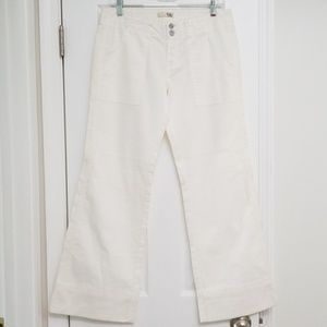 Joie White Wide Leg Pants